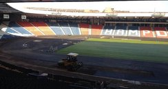 The national stadium done up for Glasgow 2014