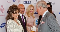 Celebrities meeting The Prince of Wales