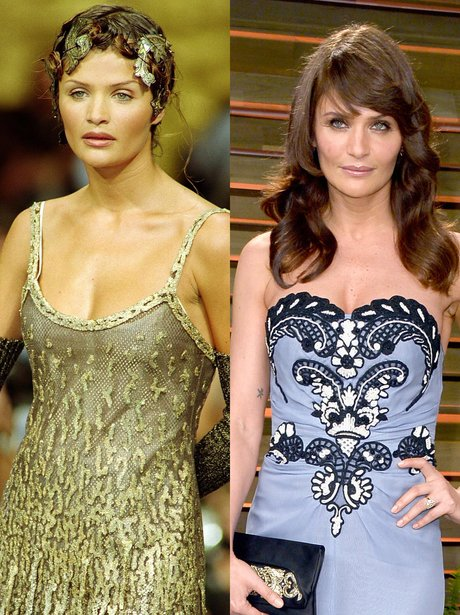 Helena Christensen then and now
