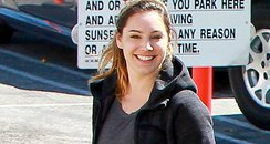 Kelly Brook shows off her Engagement Ring