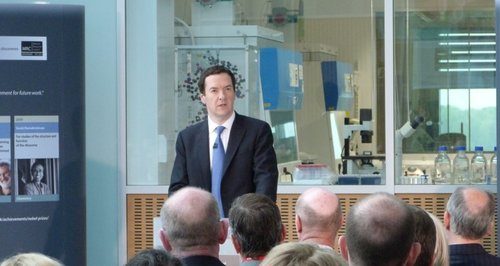 Chancellor George Osborne Visits Cambridge