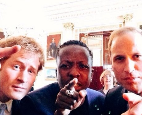 Prince Harry And Prince William Pose For A Selfie After A