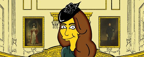 "Princess Kate Middleton Simpsonized ""Born to be an"