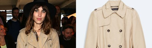 Alexa Chung in a trenchcoat