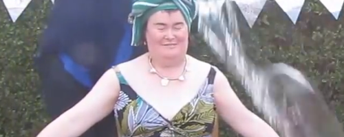 Susan Boyle takes on the Ice Bucket Challenge