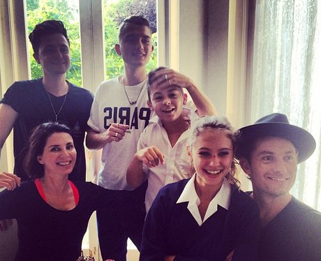 Sadie Frost and Jude Law with kids