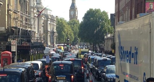 Taxi Go-Slow on Whitehall