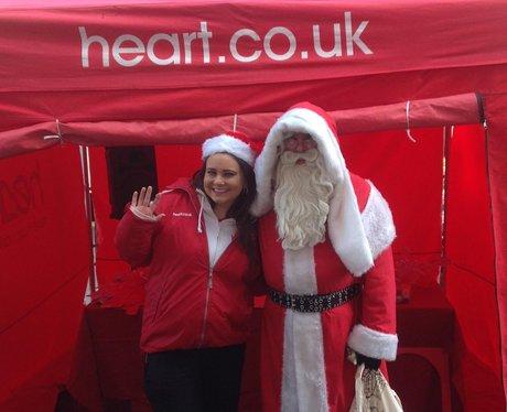 Heart Angel Millie meeting Santa