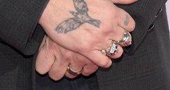 Johnny Depp wears wedding ring