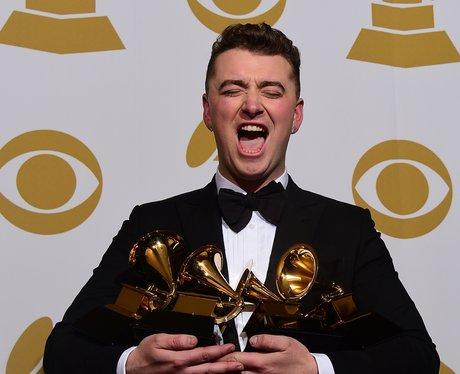 Sam Smith with his Grammy Awards 2015
