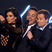 Kim Kardashian takes a snap on stage with Ant and Dec.