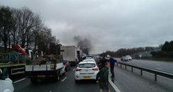 M27 Whiteley fatal crash lorry fire