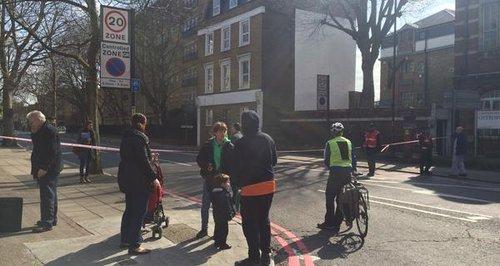 Police cordon in Bermondsey