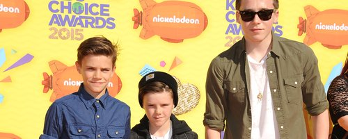 Romeo, Cruz and Brooklyn Beckham at Nickelodeon's