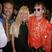 12. Gianni Versace, Donatella Versace and Elton John, 1992