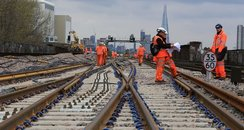 Network Rail Easter work at London Bridge