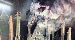 Randolph Fire aerial image