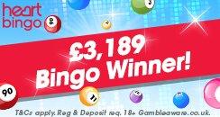 Heart Games - £3189 Winner