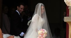 Geri Halliwell on her wedding day