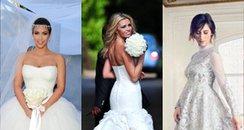 Celebrity Wedding Dresses Canvas