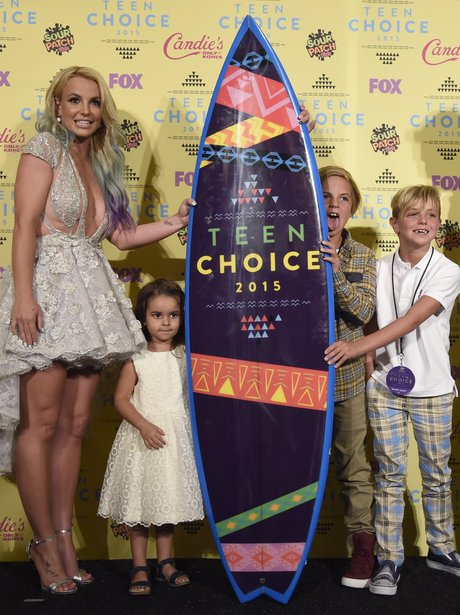 Britney Spears and her children at the Teen Choice