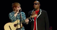 Ed Sheeran and Stevie Wonder