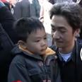 Boy and his dad in Paris