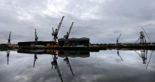 View from clyde of shipyards