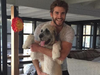 Liam Hemsworth with Rescue Dog