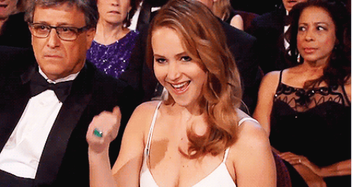 Jennifer Lawrence fist pump