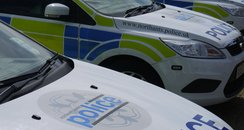 Row of Northants Police Cars