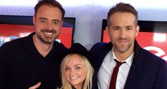 Ryan Reynolds with Jamie and Emma