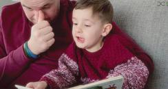 Dad's reading books