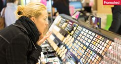 Shopping for beauty makeup department