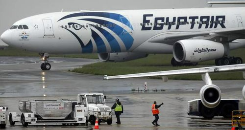 Image of EgyptAir plane