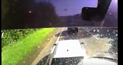 A46 crash dashcam video still