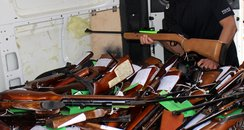 airguns, police