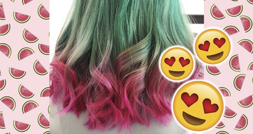 watermelon hair canvas