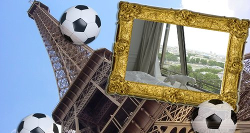 You can now watch the euros from the most glamorous place Eiffel tower secret room