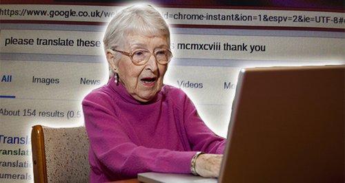 Granny on computer google canvas