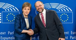 Nicola Sturgeon and Martin Schulz