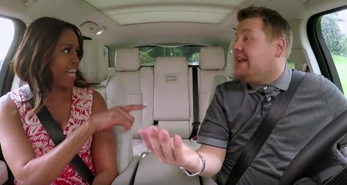 Michelle Obama and James Corden Carpool Karaoke