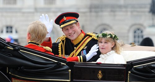 Prince Harry Waving From Royal Carriage