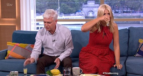 Holly Willoughby and Phillip Schofield down shots