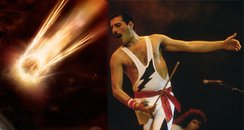 Shooting star Freddie Mercury canvas