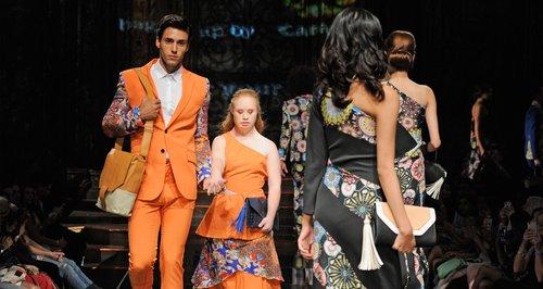 Madeline Stuart at New York Fashion Week