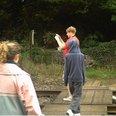 rail risks boy with phone