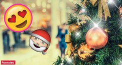 Christmas festive shopping mall promo
