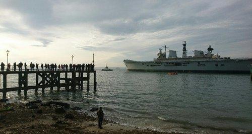 HMS Illustrious Portsmouth final departure