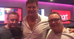 The Hoff with Jagger & Woody